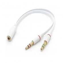 3.5母转耳机+耳麦手机电脑耳机延长线 AUX转接音频线