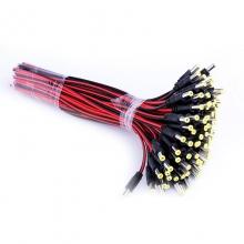 监控电源头 电源线监控摄像机电源接头红黑公头线集中供电 单根 精准一把100根
