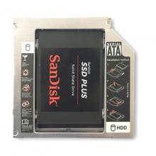 IT-CEO 9.0mm 笔记本光驱位SATA硬盘托架 9.0mm (黑色+银色) 通用SSD固态硬盘支架