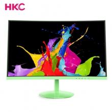 HKC C240L套装 24英寸曲面显示器 三星R1880原装屏 窄边框hdmi商用游戏办公液晶电脑高清屏 绿色