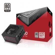 全汉(FSP)额定600W 魔王FM600W 电源 (五年质保/全模组/80Plus白牌认证/独特S型通风口设计)