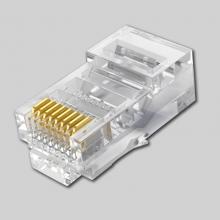 鑫鸿泰 网线水晶头超五类8芯镀金rj45连接头纯铜电脑网络线接头100个/盒