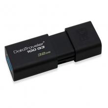 「全国联保 原装正品」金士顿(KINGSTON)DT100G3 16G 32G 64G 128G可选 USB3.0 U盘(黑色)