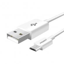「充电快」品胜(PISEN)安卓数据线 1米 1.5米可选白色 Micro USB手机充电线(加长版接口)适于三星/小米/vivo/魅族/华为等