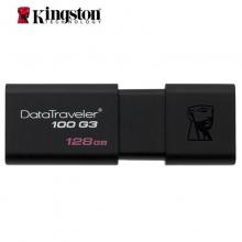 金士顿(Kingston) DT100G3  USB3.0 黑色 滑盖设计 时尚便利 U盘 闪存盘  高速读写优盘 128G