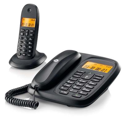 摩托罗拉 数字无绳电话机cl101c 办公子母机 家用无线座机 一拖一 无线电话