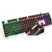 汇佰硕BT300键盘套装(U+U)黑色发光冰甲系列游戏专用发光套装带配重!质量问题一年保换新