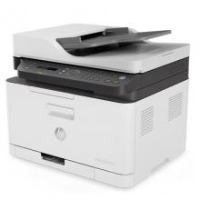 普(HP)打印机 A4彩色激光打印复印扫描一体机 M179fnw新品带传真四合一