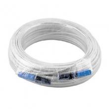 光纤跳线 125米成品光纤皮线 白色两端机器压好sc-sc接头两根钢丝
