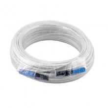 光纤跳线 150米成品光纤皮线 白色两端机器压好sc-sc接头两根钢丝
