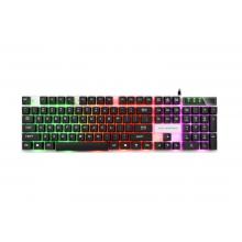 冰甲BK30黑色机械手感七彩炫光键盘特价限量促销抢到赚到