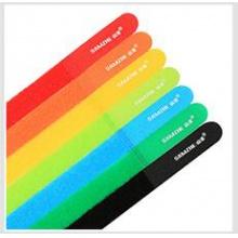 山泽七彩魔术扎带电脑线材绑绳背靠背粘贴反复使用七色套装