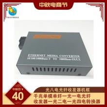 千兆单模单纤一光一电光纤收发器一光二电一光四电转换器HTB-GS-03AB一光八电光纤收发器机框
