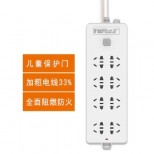 新国标飞尼尔TF-508PVC袋插座电源接线板插排插线板拖线板 大8位 1.8米3米5米