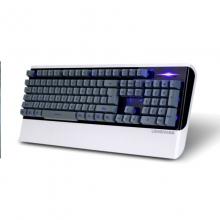 朗森K31 P/U口 三色字符发光 网咖 P:灰蓝色 U:白色 网咖优选键盘