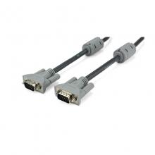 高多10米VGA高清显示线 VGA(3+4)无氧铜 双磁环 线芯纯铜、OD8.0 铁灰
