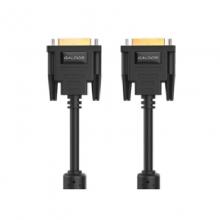 高多1.5米 黑色 DVI24+1视频线 双磁环,双通道,纯镀锡铜,OD7.0,支持4k