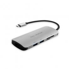 高多 0.25米 钛空灰 GD-C20 Type-c 转 HDMI母 + USB3.0*2 + SD/TF + PD充电口          转换线 转换器 转换头