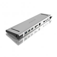 高多 0.25米 钛空灰 GD-C22 Type-c 转 USB3.0*3 + SD/TF + 千兆网口 + HDMI母 + VGA 母 + PD充电口 + 3.5MM音频口           转换线 转换器 转换头
