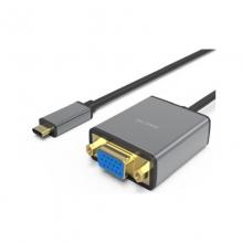 高多 0.23米 钛空灰 GD-C09 Type-C 转 VGA母 转换器,铝合金一体成型,支持1080P           转换线 转换器 转换头