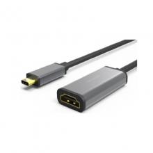 高多 0.23米 钛空灰 GD-C10 Type-C 转 HDMI母 转换器,铝合金一体成型,支持4K          转换线 转换器 转换头