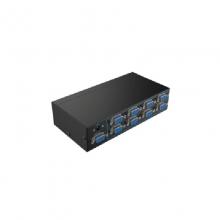 高多 GD-G29 八路(一进八出)VGA分配器 分辨率 1920*1440 支持宽频 带宽 250MHz 输出端支持最长20米 支持级联 铁壳彩盒包装