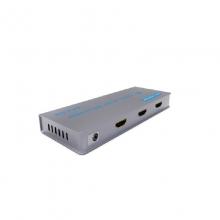 高多 GD-G26 二路(一进两出)HDMI视频信号分配器,1.4版本 支持蓝光DVD(3D),多媒体播放器,硬盘录像机等等各类HDMI接口设备,带复位