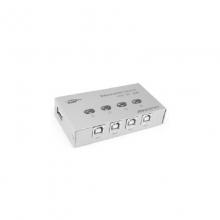 高多 GD-G18 四路(四进一出)USB 2.0自动共享器 热键切换(自动) 按键切换 带驱动 支持所有USB打印设备 铁壳 彩盒包装