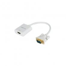 高多 GD-K73 0.23米 VGA公 转 HDMI母 VGA公 转 HDMI母头输出 带供电 带音频输入