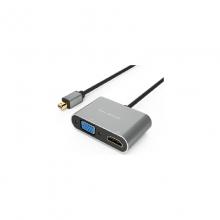 高多 GD-K65 0.23米 MiniDP 转 HDMI+VGA母 转接头 MiniDP 转 HDMI+VGA母 转接头