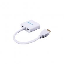 高多 GD-K06(Z6)0.23米 HDMI转接头 HDMI公 转 VGA母头 带音频,安卓充电接口