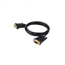 高多 GD-K27 1.8米 黑色 DVI(24+1)公 转 VGA公头 DVI转VGA公头 转接线 (OD5,0mm) 支持 1080P