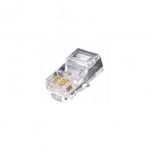 高多 GD-B20 超五类8P4C监控布线水晶头 镀金触点  三叉弹簧片  PC阻燃材质