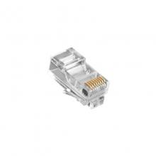 高多 GD-B01 (S2)超五类RJ45非屏蔽镀金 水晶头(三叉加厚镀金A) 镀金,三叉铜片3.5厚度,强化折弯