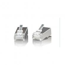 高多 GD-B05(S5)超六类RJ45非屏蔽镀金 水晶头 镀金,三叉铜片3.5厚度,强化折弯