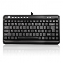 双飞燕 KL-5 有线键盘 办公键盘 便携小键盘 笔记本键盘 USB接口 黑色