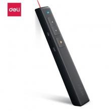 得力2802黑色(deli) 360度控制教师专用PPT激光翻页笔/无线演示器课件笔 红光 2802