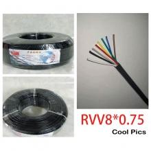 纳和安防线缆 纳和监控电源线 RVV护套线 线芯:8X0.75 8CE626 200米 无氧铜