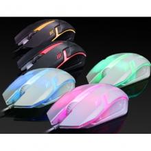 力镁-S1 发光游戏鼠标 黑白两色可选 USB 入门级游戏鼠标 经典3D发光鼠标