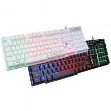 力镁-TX30 七彩光 普通版 游戏键盘 悬浮式 仿机械手感 黑色键帽七彩发光
