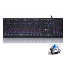 力镁-L1000青轴薄膜机械键盘 黑色 薄膜导电 可插拔轴 双色注塑键帽 经典外观设计 高精度高灵敏度机械开关配合 薄膜导电 可插拔轴