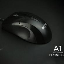 义宏有线鼠标 A1 办公鼠标 滚轮带刻度线 舒适防滑 500W次按键寿命