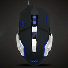 义宏有线鼠标 X7 风火轮 游戏鼠标 6D按键 守望先锋专业游戏鼠标 采用原相3050 游戏性能稳定