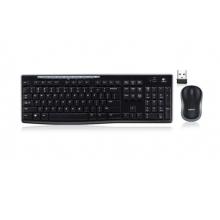 罗技(Logitech)MK270 键鼠套装 无线键鼠套装 办公键鼠套装 全尺寸 黑色 带无线2.4G接收器