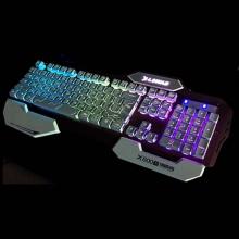 缔造者X-600S 双色注膜键盘USB游戏炫光键盘