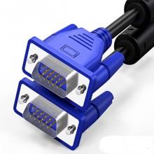 蓝海E线蓝头VGA线3+4 1.5米(7/0.12镀锡铜包钢+PE=1.2)*3组+7/0.12镀锡铜包钢*4(或者2)芯+地7/0.12镀锡铜包钢+铝箔+PVC黑色外被OD=5.2