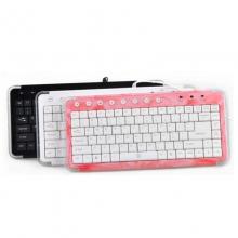 相思豆S27 水晶键盘 黑、白、玫红 长29cm宽13.3cm高2.2cm 三色随机