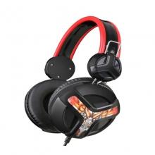 超越者V2头戴式游戏耳机 电脑耳机耳麦 绝地求生耳机 吃鸡耳机带包  双插头 耳机 耳麦 带麦克风