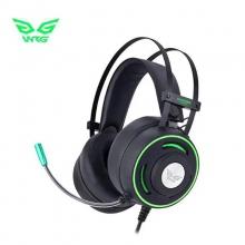 现代G9500游戏耳机USB耳机头戴式电脑电竞耳麦重低音麦克风话筒台式CF电竞USB耳机,教学耳机、考试专用