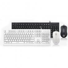 相思豆D78 巧克力商务办公套装键盘鼠标 白色